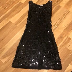 BCBG Vintage 90s Black Sequin Dress